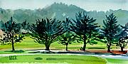 Crystal Painting Prints - Fairway Junipers Print by Donald Maier
