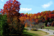 Natchez Trace Parkway Photo Posters - Fall Drive in Tennessee Poster by EricaMaxine  Price