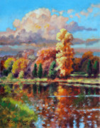Fall Trees Posters - Fall in Missouri Poster by John Lautermilch