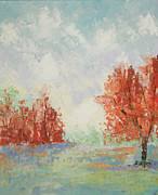 South Of France Paintings - Fall in Provence by Frederic Payet