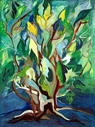 Tree Roots Painting Posters - Family Tree Poster by Betty Pieper