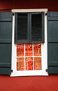 New Orleans Photo Framed Prints - Famous New Orleans PO BOYS Red Neon Window Sign  Framed Print by Shawn OBrien