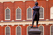 Brick Building Art - Faneuil Hall by Brian Jannsen
