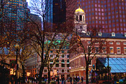 Faneuil Hall Prints - Faneuil Hall  Print by Joann Vitali