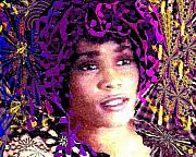 Navo Mixed Media Prints - Fantastic Whitney Print by Navo Art