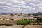 Sienna Italy Metal Prints - Farm Fields Metal Print by Jeremy Woodhouse