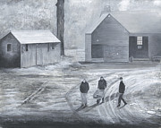 Stuart B Yaeger - Farm In Black And White
