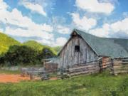 Tennessee Barn Digital Art Posters - Farmland Poster by Todd A Blanchard