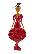 Whimsical Drawings Posters - Fashion Drawing Poster by Frank Tschakert
