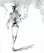 Smoking Drawings - Fashionably Late by CarrieAnn Reda
