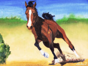Fast Paintings - Fast Horse by Sherril Porter