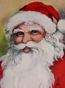 Santa Claus Paintings - Father Christmas by Vickie Warner