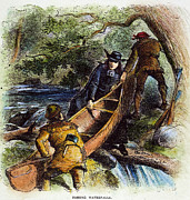 Canoe Waterfall Framed Prints - Father Jacques Marquette Framed Print by Granger