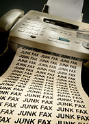 Office Desk Posters - Fax Machine Poster by Mark Sykes