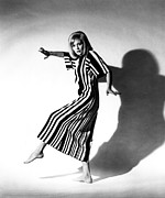Striped Dress Art - Faye Dunaway, Portrait C. 1960s by Everett