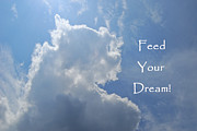 Inspirational Saying Photos - Feed Your Dream by Peggie Strachan