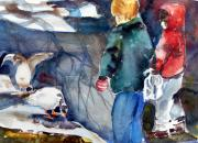 December Originals - Feeding the Ducks by Mindy Newman