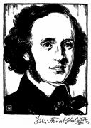 Sideburns Photo Framed Prints - Felix Mendelssohn Framed Print by Granger