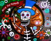 Tree Paintings - Feliz Dia Muertos by Pristine Cartera Turkus