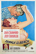 1955 Movies Photo Framed Prints - Female On The Beach, Jeff Chandler Framed Print by Everett