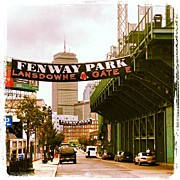 Sports Framed Prints - Fenway Park Framed Print by Rebecca Shinners