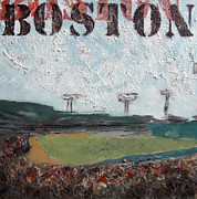 Fenway Park Painting Metal Prints - Fenway Metal Print by Romina Diaz-Brarda