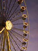 Fair Photo Posters - Ferris wheel Poster by Bernard Jaubert