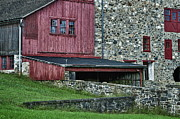 Field Stone Framed Prints - Field Stone Barn Framed Print by John Greim