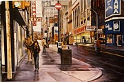Urban Scenes Prints - Fifth Avenue In The 80s Print by James Guentner