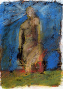 Human Pastels Prints - Figure in landscape  Print by JC Armbruster