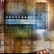Filmstrip Framed Prints - Film negatives Framed Print by Les Cunliffe