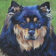 Tan Dog Prints - Finnish Lapphund Print by Lee Ann Shepard
