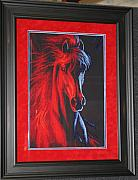 Pony Tapestries - Textiles Originals - Fire and Ice  by Janet  Hall