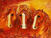 Western Paintings - Fire Angels by Jennifer Morrison Godshalk