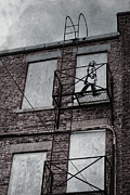 Street Photographer Photographs Prints - Fire Escape  Print by Jerry Cordeiro