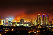 Urban City Areas Photos - Fire in the hold Bandra Mumbai by Kantilal Patel