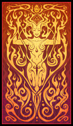 Feminine Digital Art Framed Prints - Fire Spirit Framed Print by Cristina McAllister
