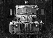 Vintage Truck Photos - Fire Truck by Ron Jones