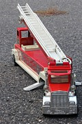 Toy Truck Framed Prints - Fire Truck Toy Framed Print by Sophie Vigneault