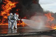Gear Photos - Firefighting Marines Battle A Huge by Stocktrek Images