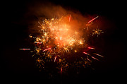 Firework Display Posters - Firework Display At New Years Eve Poster by Olaf Broders