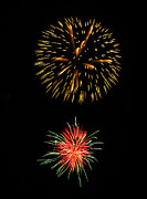 4th July Photo Prints - Fireworks at Virginia Beach Print by Janice Paige Chow