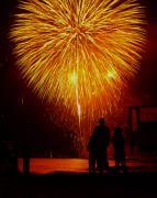 Fireworks Print by Marc Bittan