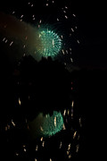 Fire Works Prints - Fireworks on Golden Ponds.  Print by James Bo Insogna