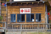 Susan Leggett Acrylic Prints - First Aid Station Acrylic Print by Susan Leggett