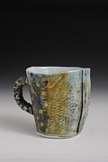 Porcelain. Wildlife Ceramics - Fish Mug by Mark Chuck