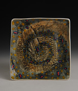 Fly Fishing Ceramics - Fish Plate by Mark Chuck