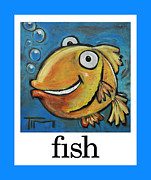 Cartoony Prints - Fish Poster Print by Tim Nyberg