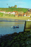 Whitby Photos - Fishermen Returning to Whitby Harbour by Gordon Wood