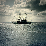 Backlit Prints - Fishing Boat Print by Joana Kruse